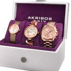 Accessories - Flash Sale! Akribos XXIV Women's Watch Set
